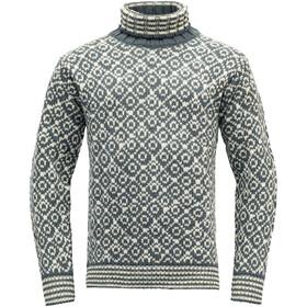 Devold Svalbard High Neck Suéter, negro/blanco